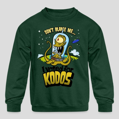 The Simpsons: I Voted for Kodos (color) - Kids' Crewneck Sweatshirt