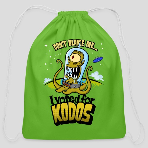 The Simpsons: I Voted for Kodos (color) - Cotton Drawstring Bag