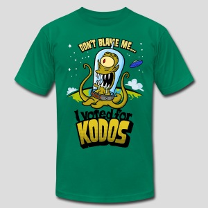 The Simpsons: I Voted for Kodos (color) - Men's Fine Jersey T-Shirt