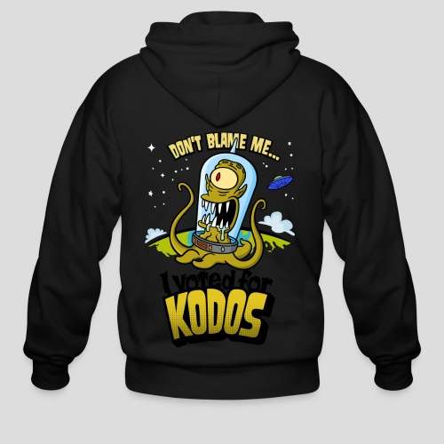 The Simpsons: I Voted for Kodos (color) - Men's Zip Hoodie