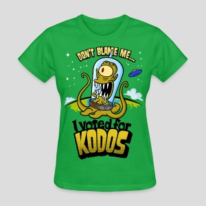 The Simpsons: I Voted for Kodos (color) - Women's T-Shirt