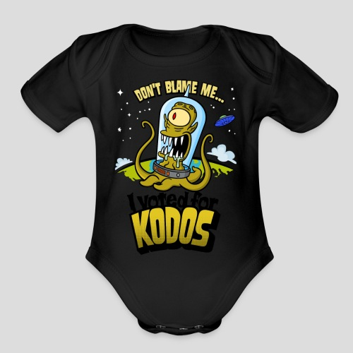 The Simpsons: I Voted for Kodos (color) - Organic Short Sleeve Baby Bodysuit