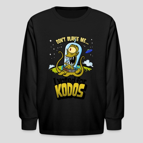 The Simpsons: I Voted for Kodos (color) - Kids' Long Sleeve T-Shirt