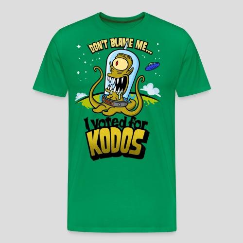 The Simpsons: I Voted for Kodos (color) - Men's Premium T-Shirt