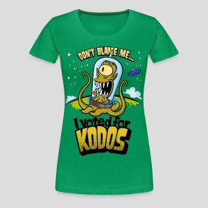The Simpsons: I Voted for Kodos (color) - Women's Premium T-Shirt