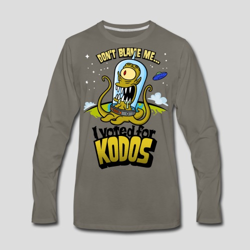 The Simpsons: I Voted for Kodos (color) - Men's Premium Long Sleeve T-Shirt