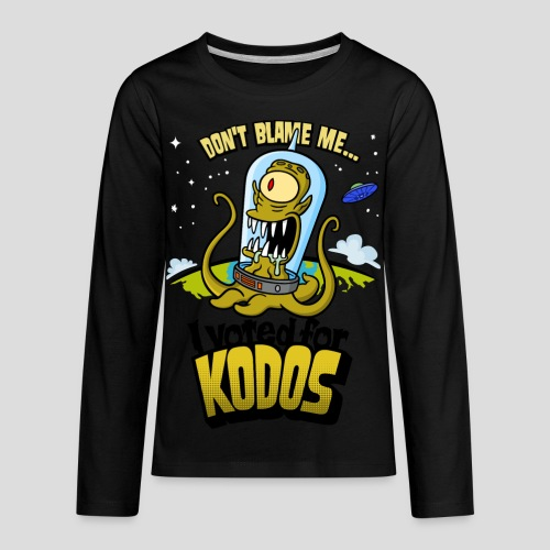 The Simpsons: I Voted for Kodos (color) - Kids' Premium Long Sleeve T-Shirt