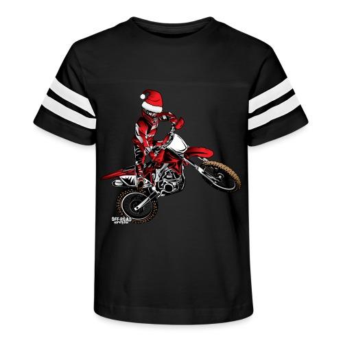 christmas dirt biker - Kid's Vintage Sport T-Shirt