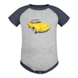 Yellow Alfa Romeo Spider illustration - Baby Contrast One Piece