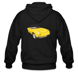 Yellow Alfa Romeo Spider illustration - Men's Zip Hoodie