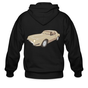 Gold Studebaker Avanti illustration - Men's Zip Hoodie