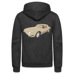 Gold Studebaker Avanti illustration - Unisex Fleece Zip Hoodie by American Apparel