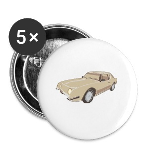 Gold Studebaker Avanti illustration - Large Buttons