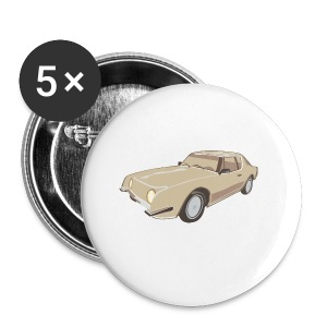 Gold Studebaker Avanti illustration - Small Buttons
