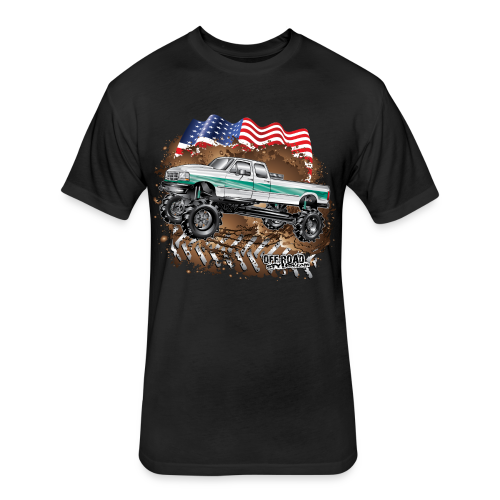Ford F350 Mud Truck - Fitted Cotton/Poly T-Shirt by Next Level