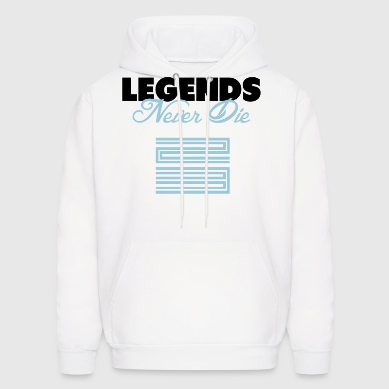 Legends Never Die Retro 11 Blue Shirt Hoodies - Men's Hoodie