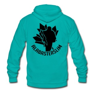 AlabasterSlim - Unisex Fleece Zip Hoodie by American Apparel