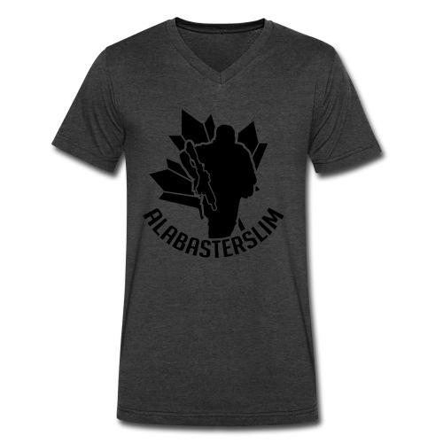 AlabasterSlim - Men's V-Neck T-Shirt by Canvas