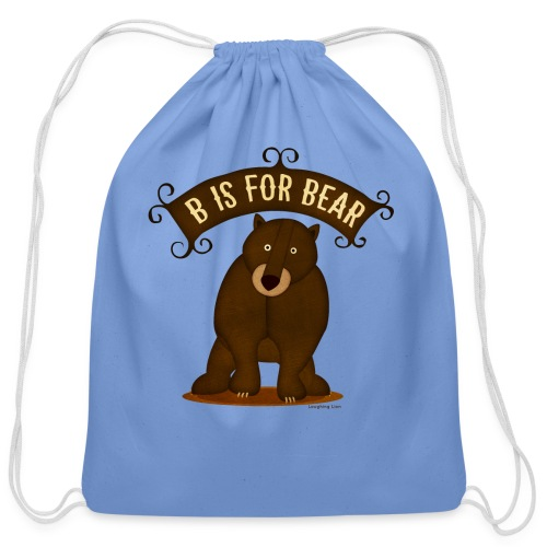 B is for Bear - Cotton Drawstring Bag