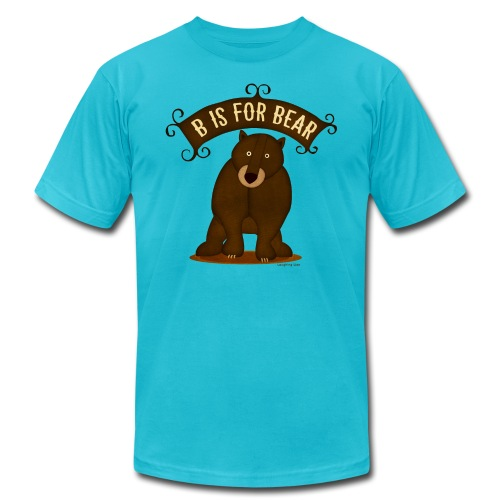 B is for Bear - Men's Fine Jersey T-Shirt