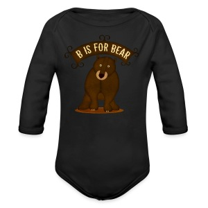 B is for Bear - Long Sleeve Baby Bodysuit