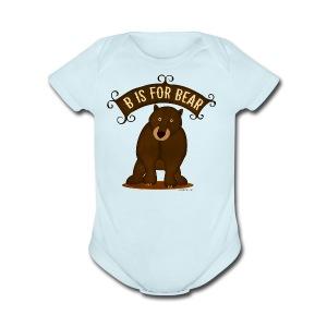B is for Bear - Short Sleeve Baby Bodysuit