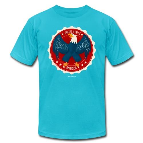 U.S.A. Eagle Kids T-Shirt - Men's Fine Jersey T-Shirt