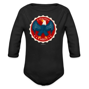 U.S.A. Eagle Kids T-Shirt - Long Sleeve Baby Bodysuit