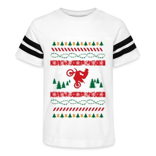 Ugly Christmas Motocross - Kid's Vintage Sport T-Shirt