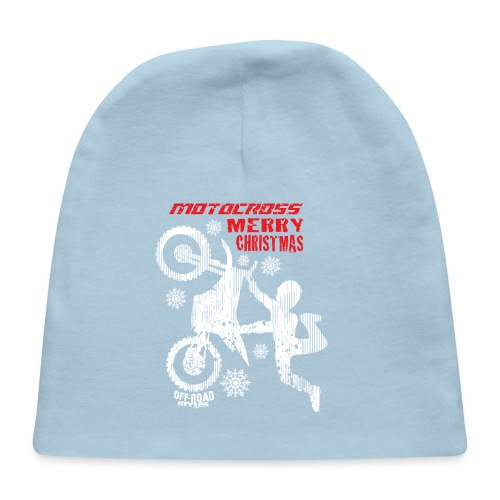 Motocross Christmas Shirt - Baby Cap