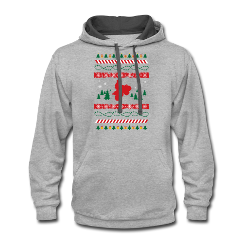 Ugly Christmas Quad - Contrast Hoodie