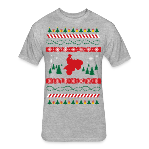 Ugly Christmas Quad - Fitted Cotton/Poly T-Shirt by Next Level