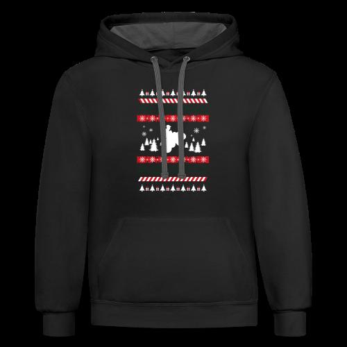 Ugly Christmas Quad - Contrast Hoodie