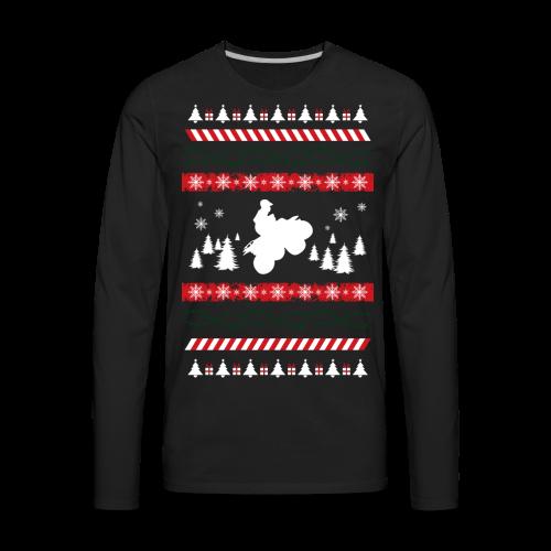 Ugly Christmas Quad - Men's Premium Long Sleeve T-Shirt