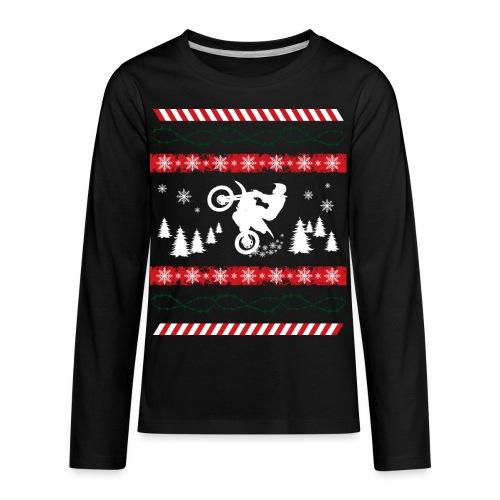 Ugly Christmas Dirtbiker MX - Kids' Premium Long Sleeve T-Shirt