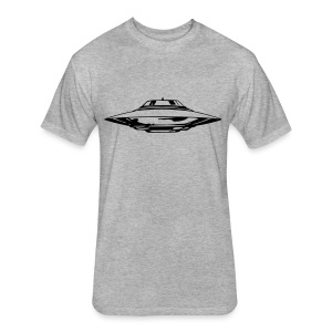 UFO T-shirt - Fitted Cotton/Poly T-Shirt by Next Level