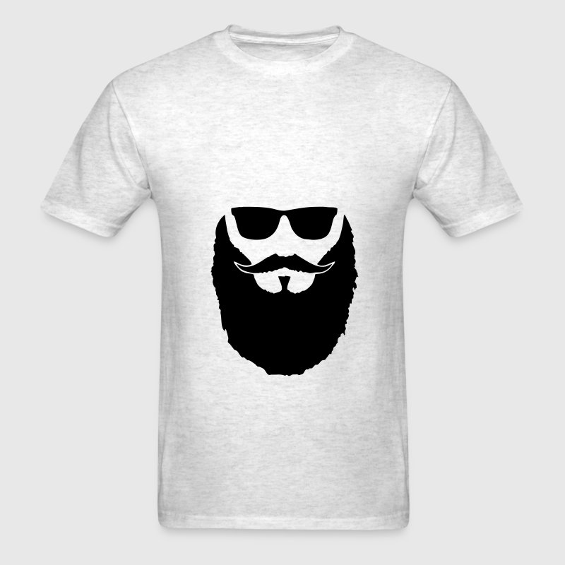 Hipster Beard moustache and glasses - Men's T-Shirt