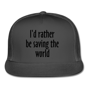 Saving The World T-Shirt (Women Purple&White) - Trucker Cap