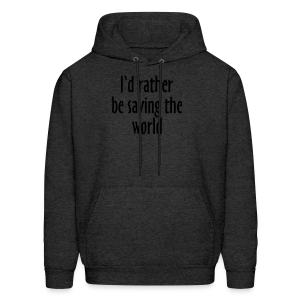 Saving The World T-Shirt (Women Purple&White) - Men's Hoodie