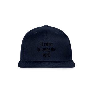 Saving The World T-Shirt (Women Purple&White) - Snap-back Baseball Cap