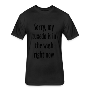 Tuxedo Wash Slogan T-Shirt (Black/White) - Fitted Cotton/Poly T-Shirt by Next Level