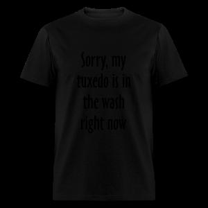 Tuxedo Wash Slogan T-Shirt (Black/White) - Men's T-Shirt