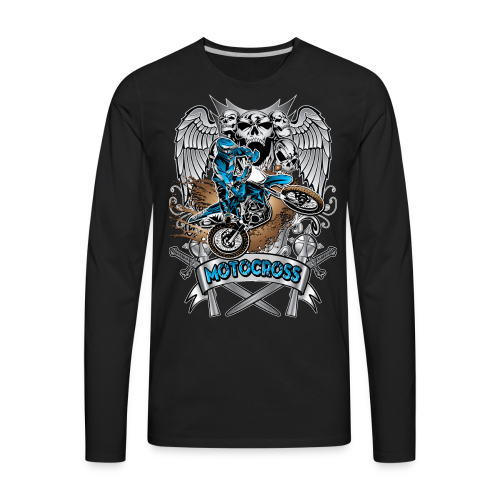 Heraldic Motocross Sports - Men's Premium Long Sleeve T-Shirt