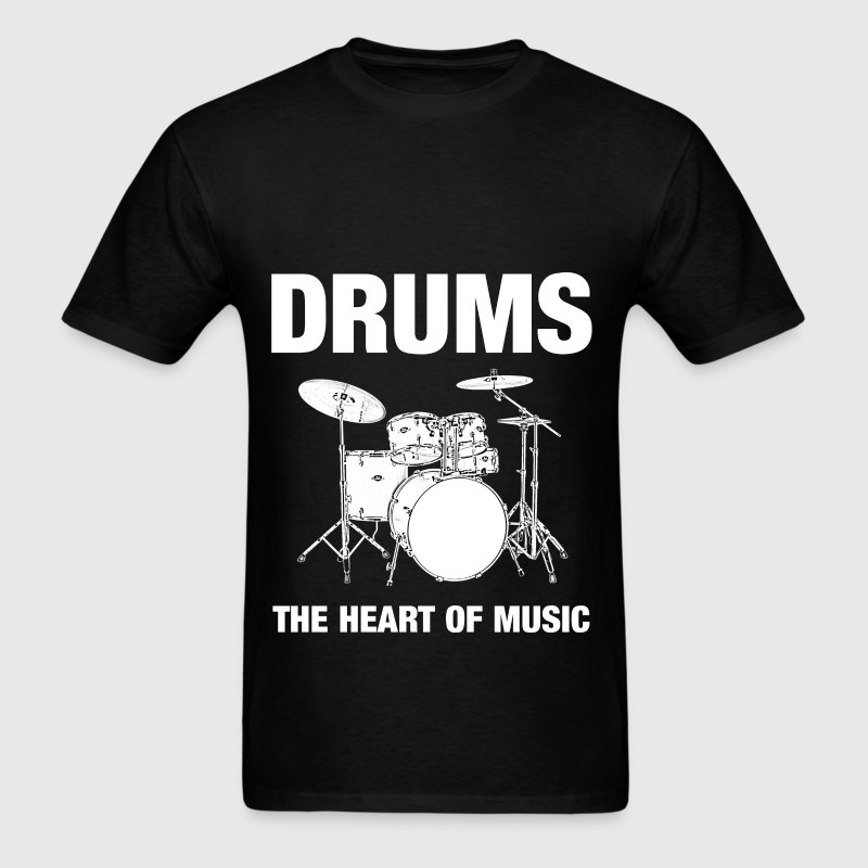 Drums The Heart - Men's T-Shirt