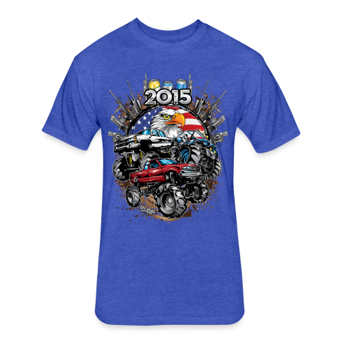 Mud Bogging 2015 - Fitted Cotton/Poly T-Shirt by Next Level