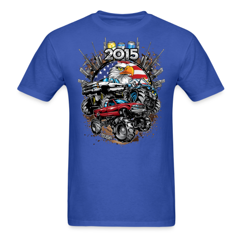 Mud Bogging 2015 - Men's T-Shirt