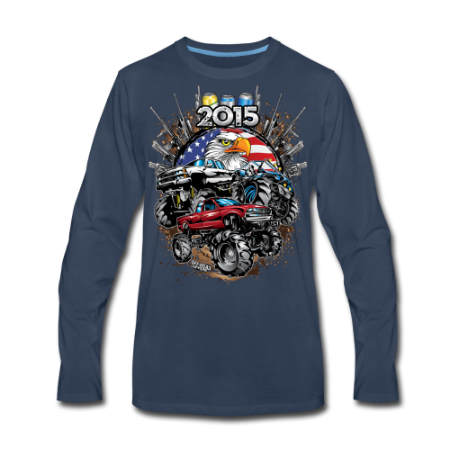 Mud Bogging 2015 - Men's Premium Long Sleeve T-Shirt