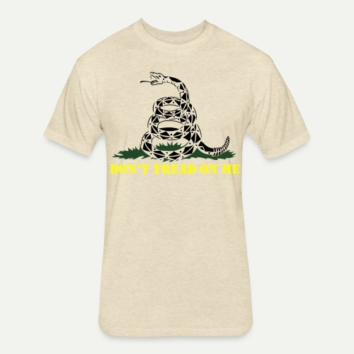 Don't Tread On Me - Fitted Cotton/Poly T-Shirt by Next Level