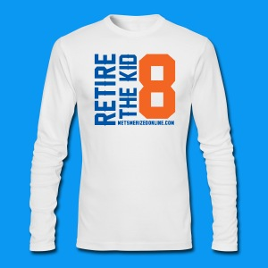 Retire 8 - Men's Long Sleeve T-Shirt by Next Level