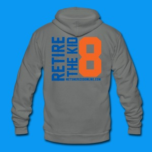 Retire 8 - Unisex Fleece Zip Hoodie by American Apparel
